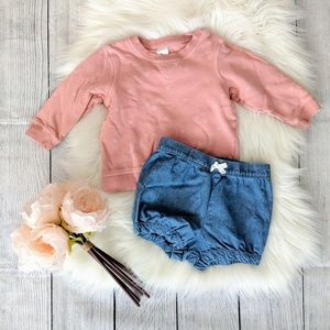 Other - H&M heart sweater with shorts Bundle